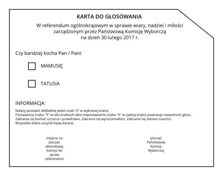karta do glosowania
