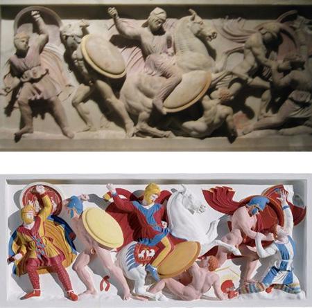 foto lewe: Gürkan Sengün, foto prawe: Stiftung Archaologie, Munich