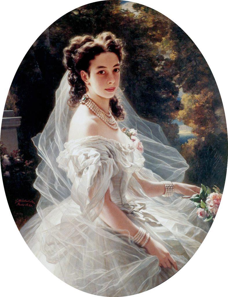 Pauline Sándor, księżniczka Metternich (olej na płótnie, podpisano Fr Winterhalter / Paris 1860.) Zdjęcie: Wikipedia
